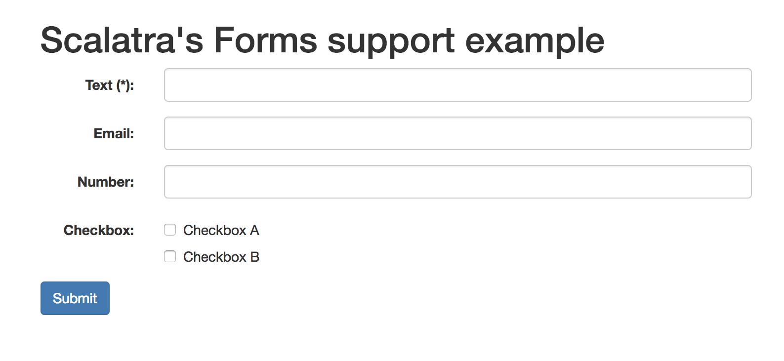 Forms - Scalatra